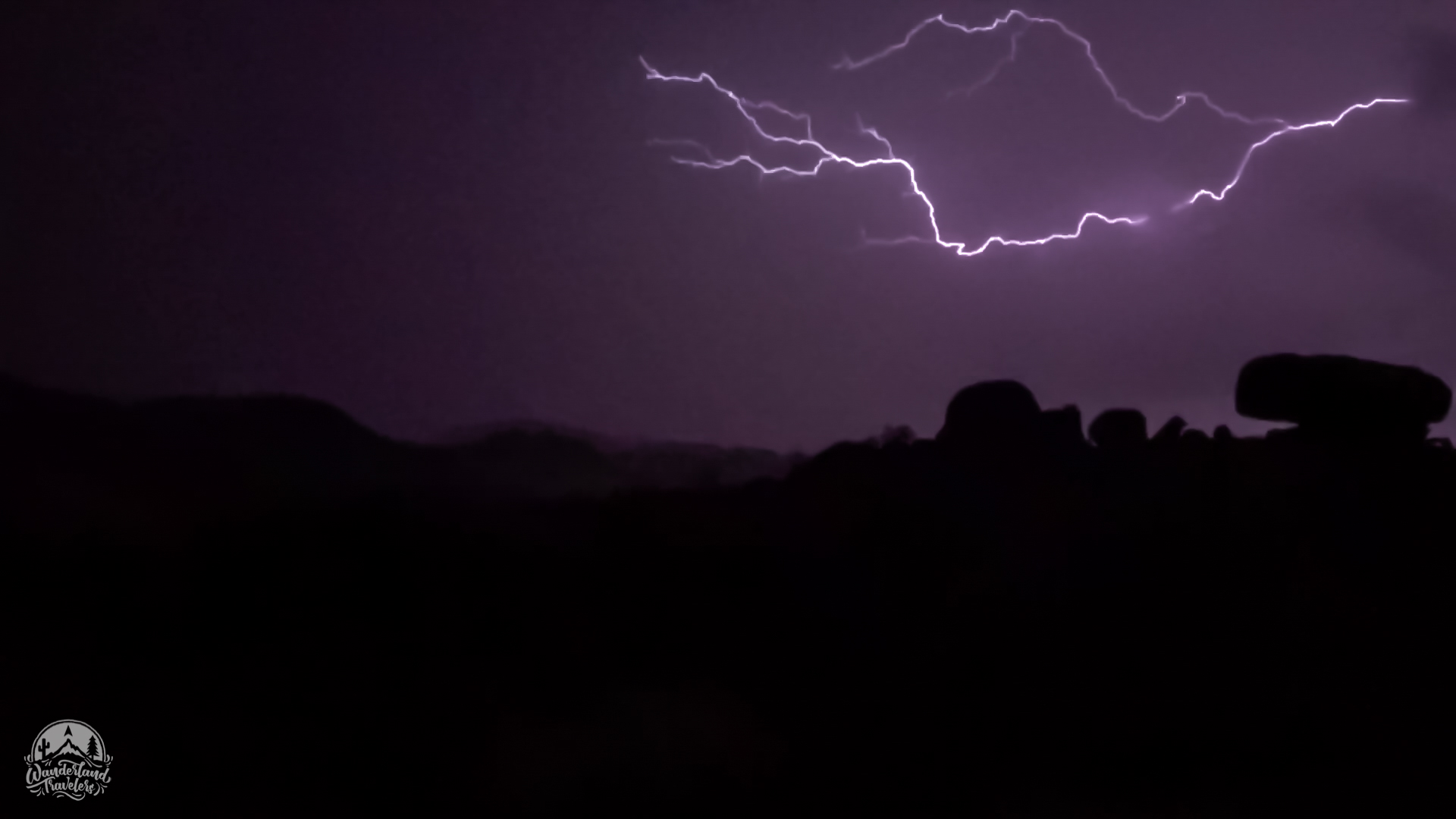 lightning bolt and rocks