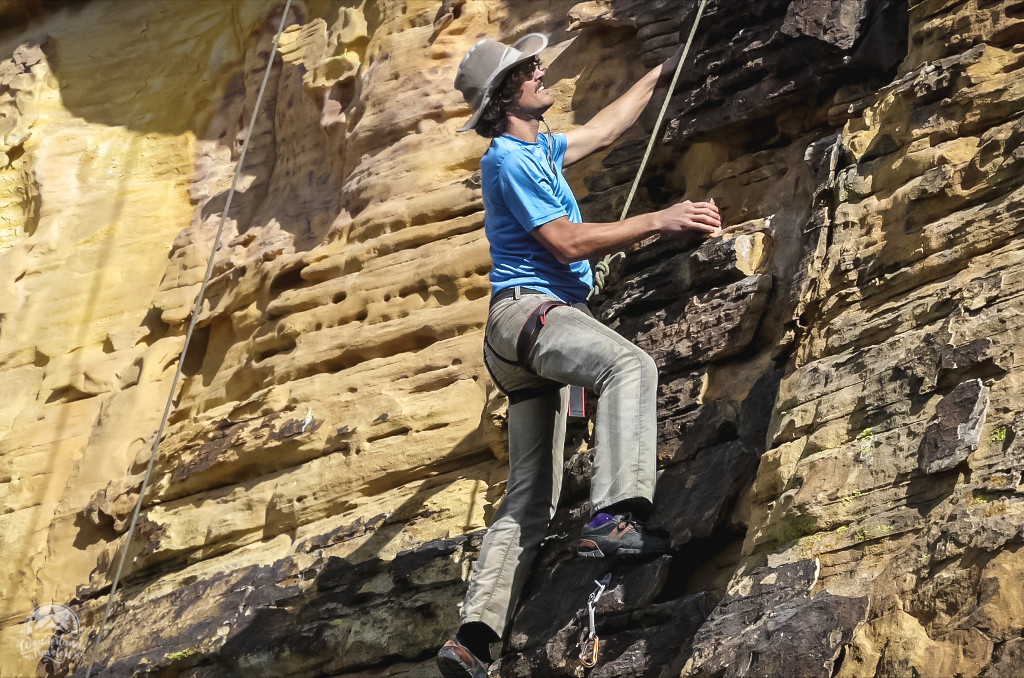 Rock Climbing at Prophesy Wall: St. George, Utah