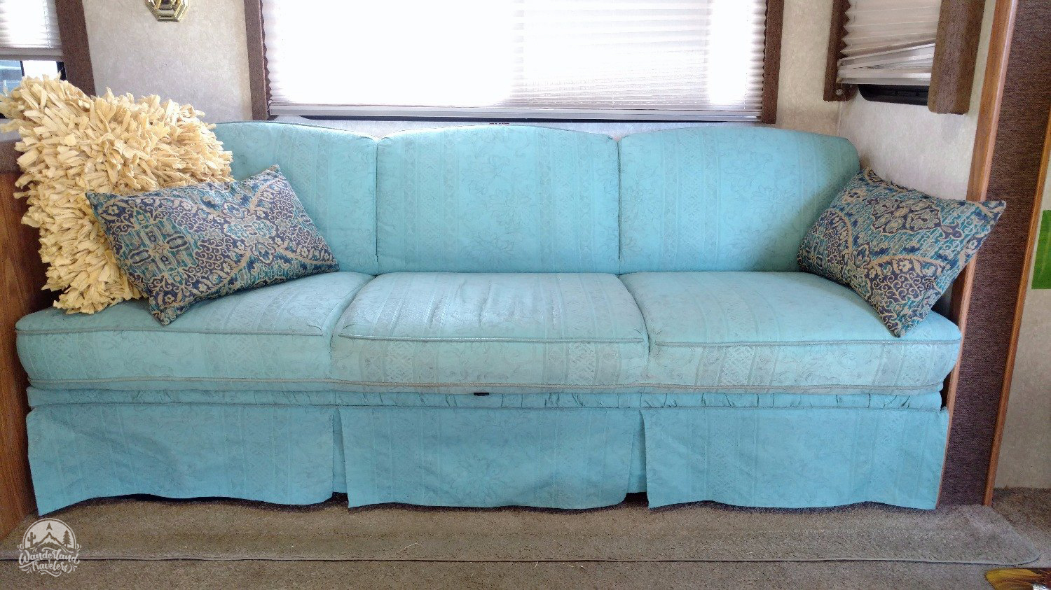 Painting Our RV Couch with Chalk Paint